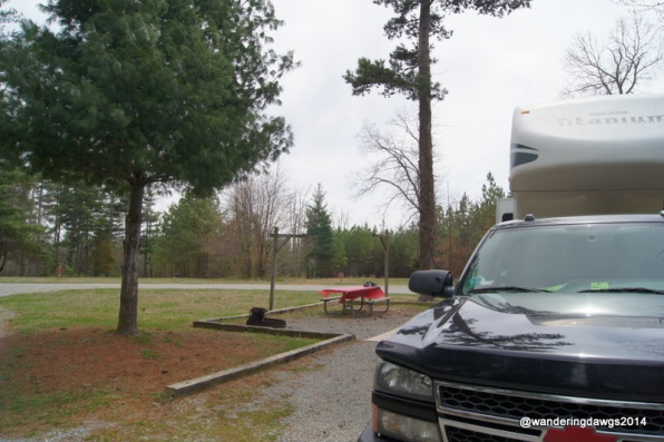 Site D21 - our favorite site at Claytor Lake State Park