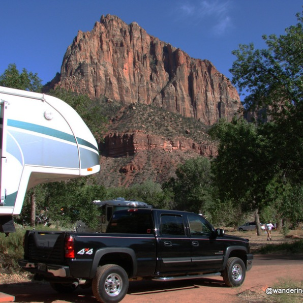 Watchman Campground, Zion National Park, Utah
