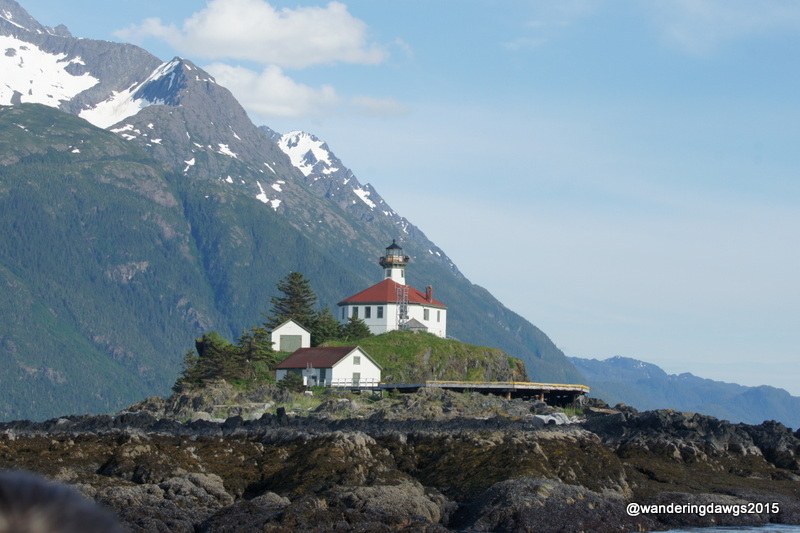Eldred Rock Lighthouse in the Lynn Canal in Alaska