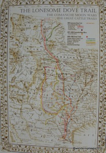 Lonesome Dove Trail Map courtesy https://www.etsy.com/shop/AntiqueMapsofTexas