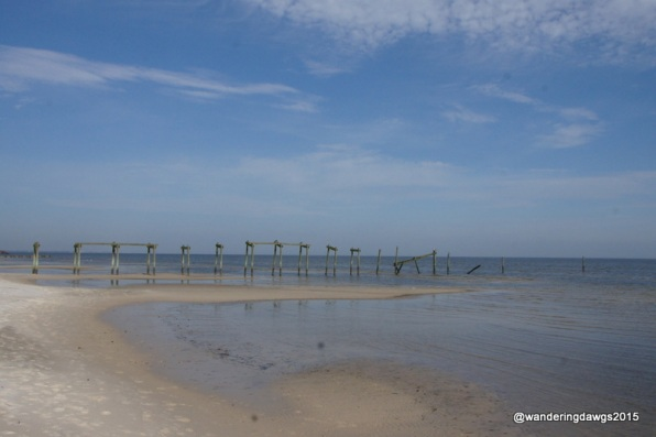 On the beach in Waveland, Mississippi