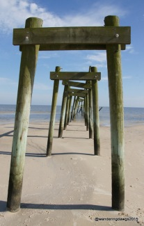 Dock remains in Waveland, Mississippi