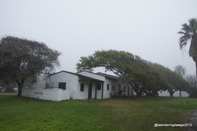 The recreation building was built by the Civilian Conservation Corps out of shell crete using oyster shells