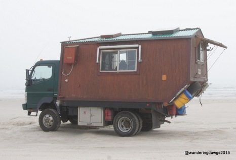 We saw this rig from Alaska camped on the beach at Padre Island NS