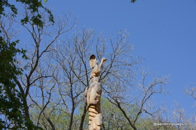 Totem beside Cypress Creek in Wimberley