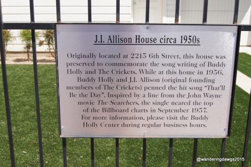 "We toured the house where ""That'll be the Day"" was written"