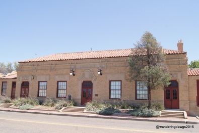 The Lubbock Railway Depot now houses art exhibits at the Buddy Holly Center