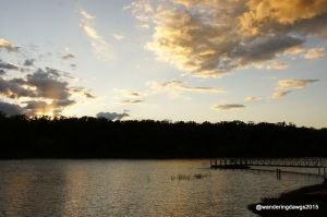Sunset over Pat Mayes Lake