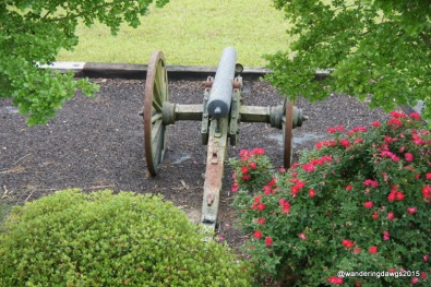 Cannon display at the Mississippi Welcome Center in Vicksburg