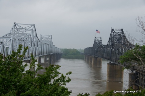 The mighty Mississippi River in Vicksburg, Mississippi