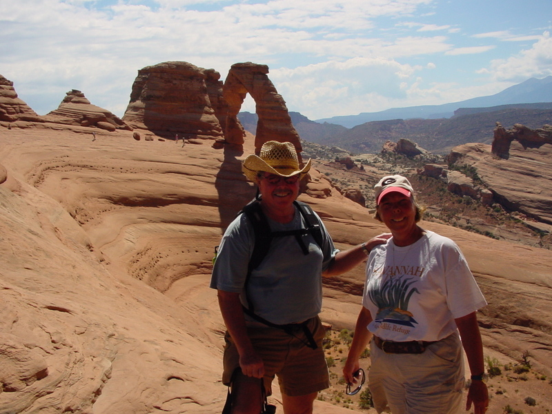 We hiked to Delicate Arch in Arches National Park, Utah