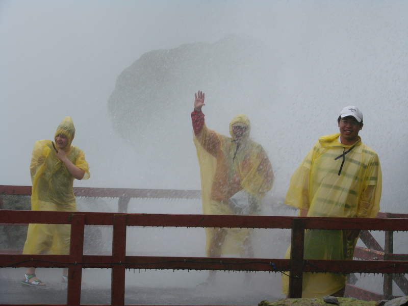 On the Hurricane Deck at Niagara Falls in New York