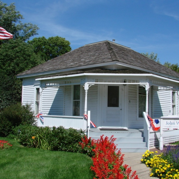 John Wayne's birthplace in Winterset, Iowa