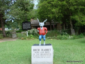 Brer Rabbit stands in front of the Uncle Remus Museum in Eatonton, GA