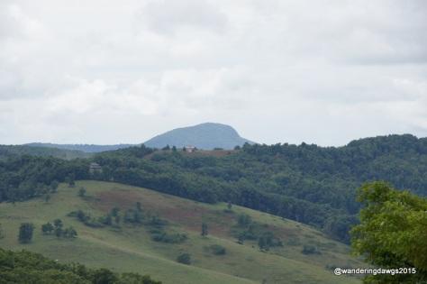 Buffalo Mountain from the Saddle Overlook on Blue Ridge Parkway