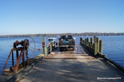Waiting to cross the St. John's River on the Fort Gates Ferry