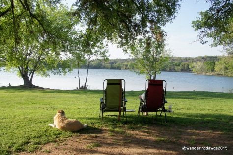 Relaxing behind our campsite at Inks Lake State Park, Burnet, Texas