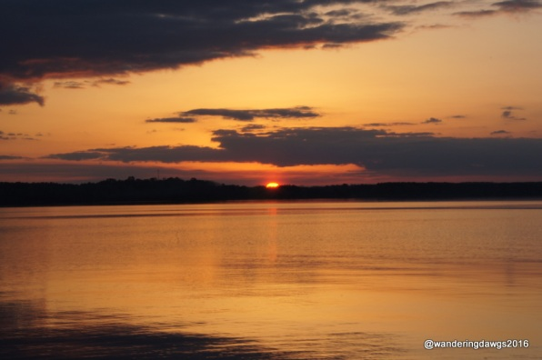 Sunset over Lake Seminole at Eastbank Campground