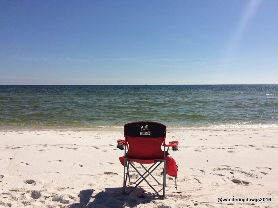 Ready for Beach Chair Sitting on the Gulf of Mexico