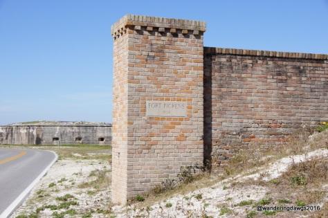 Entering Fort Pickens