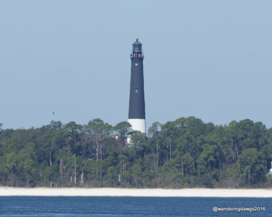 A great view of the Pensacola Lighthouse from the top of the fort
