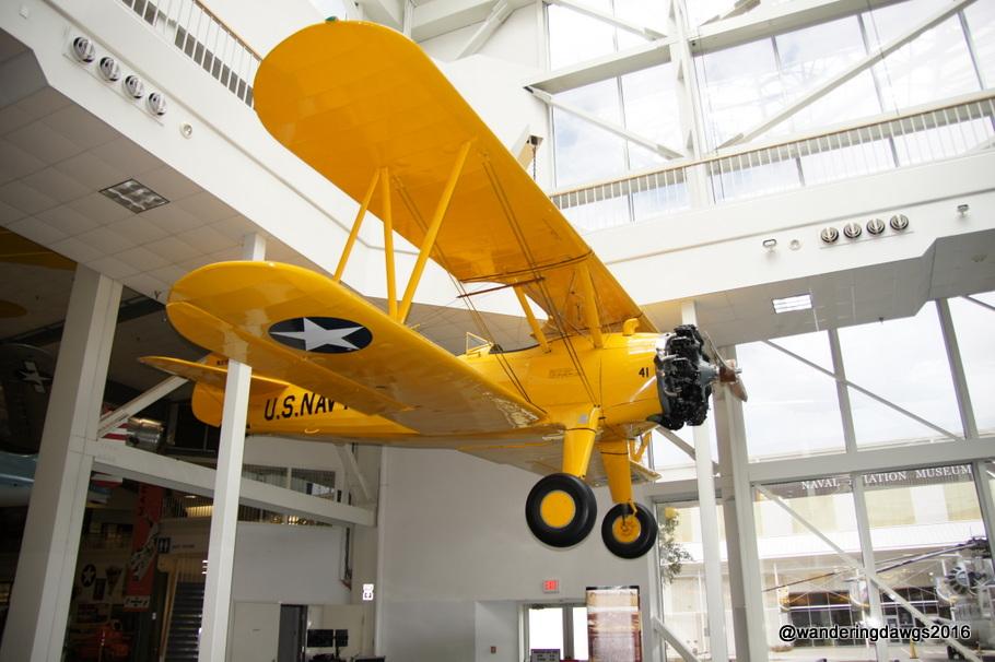 Old U. S. Naval Biplane