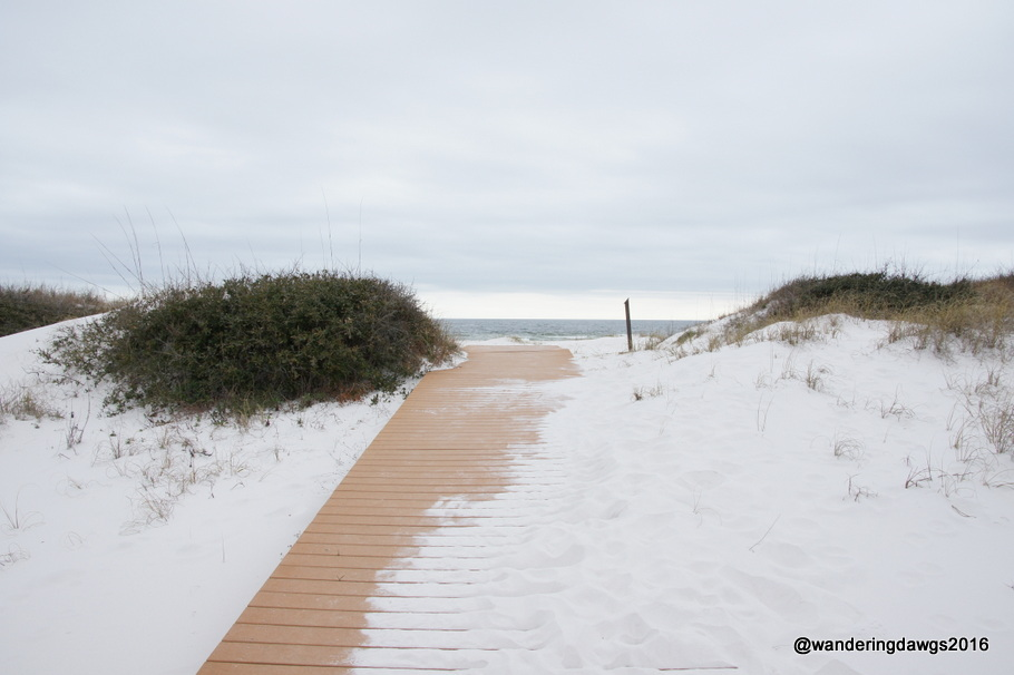 Boardwalk to the beach at Fort Pickens