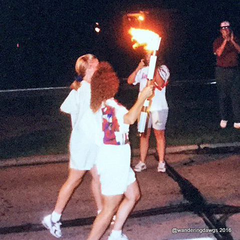 1996 Olympic torch relay in Savannah