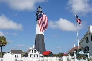 Tybee Island Light Station 4th of July American Flag