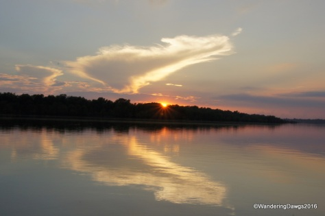 Sunset over Lake Chicot