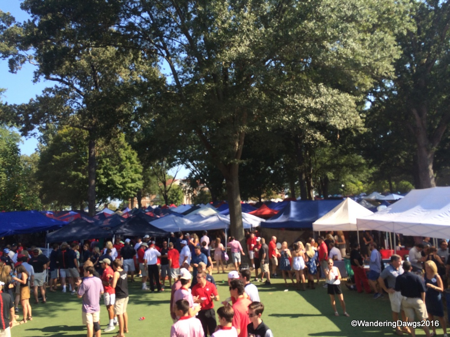 Tailgating Tents as far as the eye could see