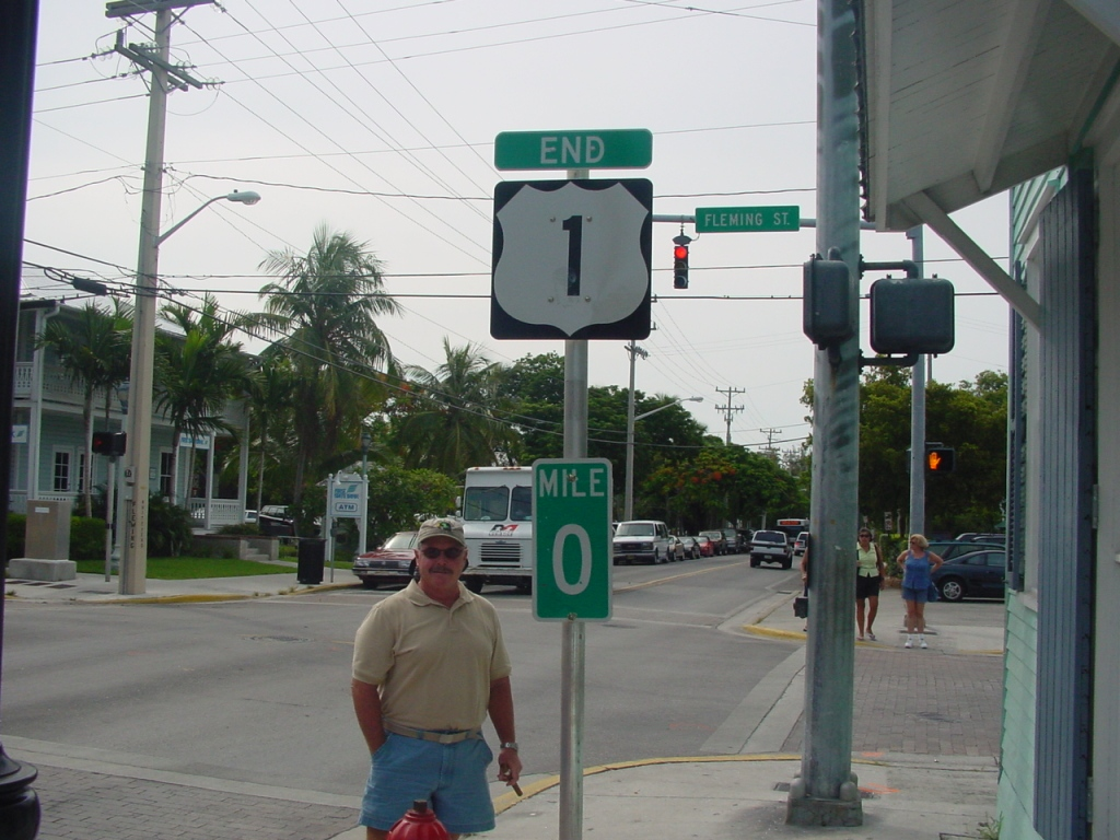 Mile Marker Zero of U. S. 1 in Key West
