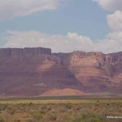 Vermillian Cliffs on way to Jacob Lake