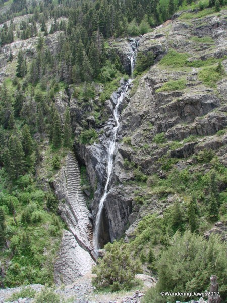Waterfall beside the San Juan Skyway