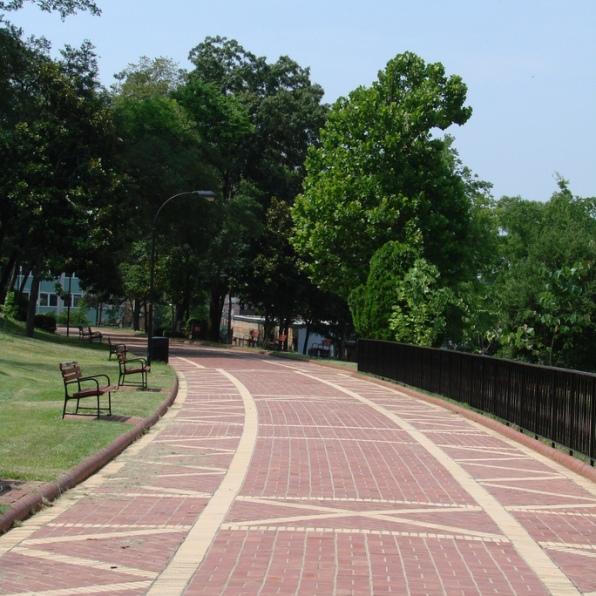 The Grand Promenade in Hot Springs National Park, Arkansas