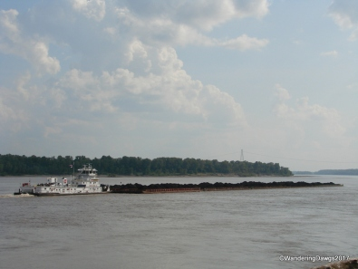 We watched the barges go down the Mississippi River from our site at Tom Sawyer RV Park