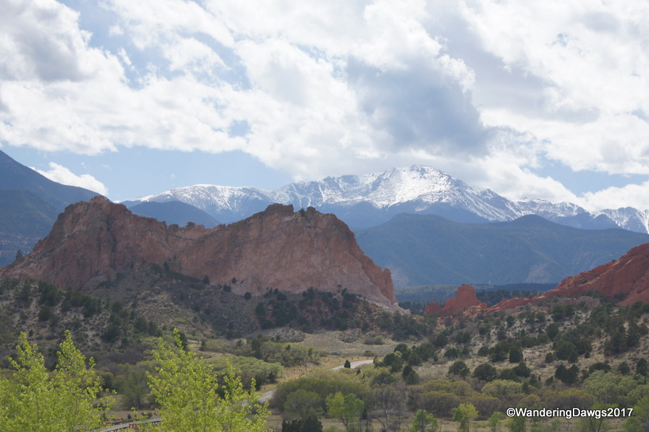 Garden of the Gods with Pikes Peak in the background