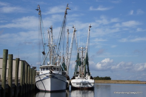 Shrimp boats on the Appalachacola Waterfront