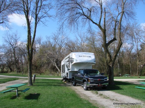 Tin Cup RV Park in early spring, Mahomet, Illinois