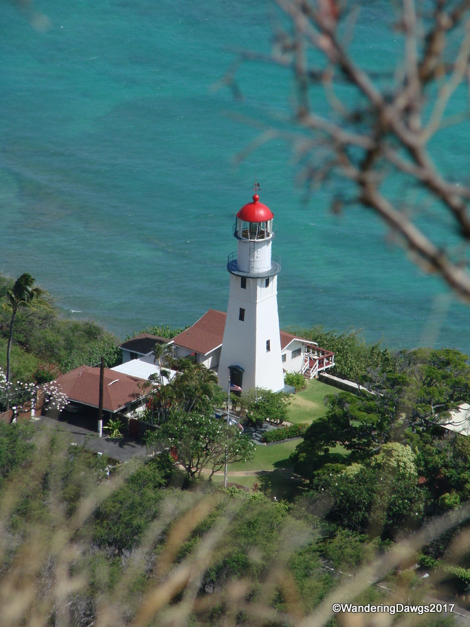 Diamond Head Lighthouse from the top of Diamond Head