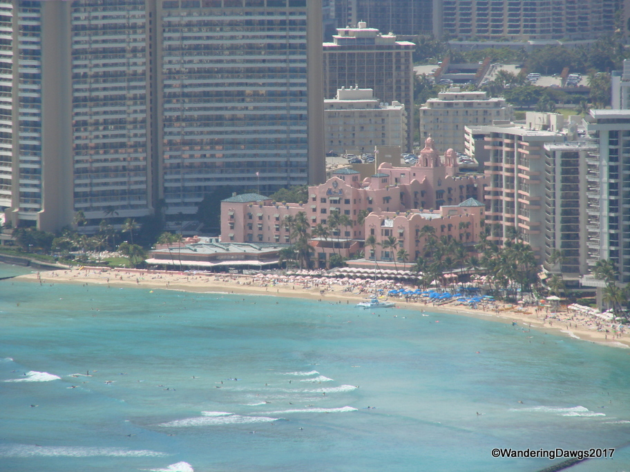 We hiked to the top of Diamond Head for this view of Waikiki