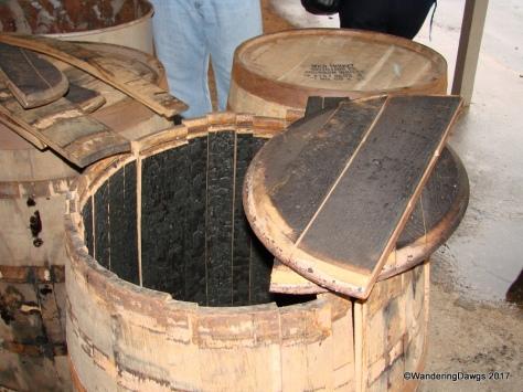 Wild Turkey Bourbon is aged these barrels