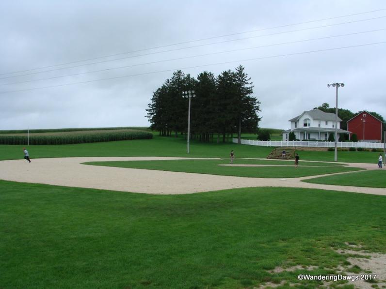 Kids were batting and running around the bases