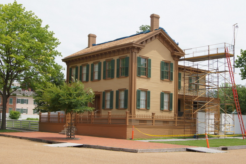 There was construction being done when we visited Lincoln's home in Springfield