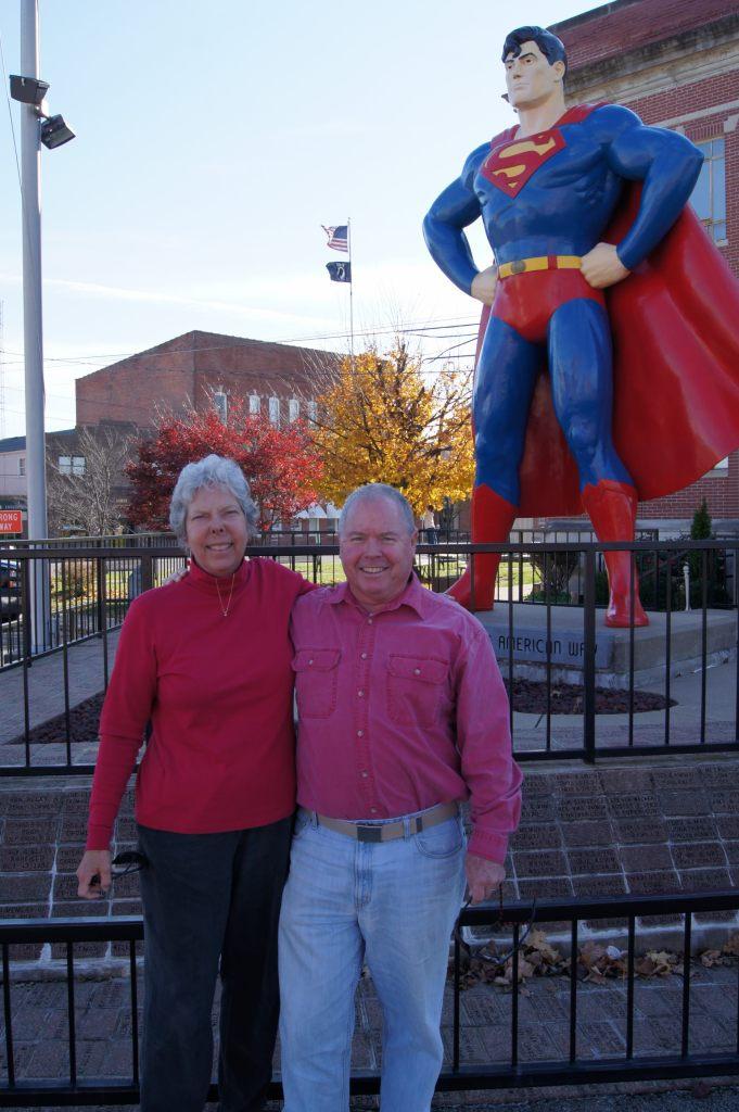 We visited Superman in Metropolis, Illinois