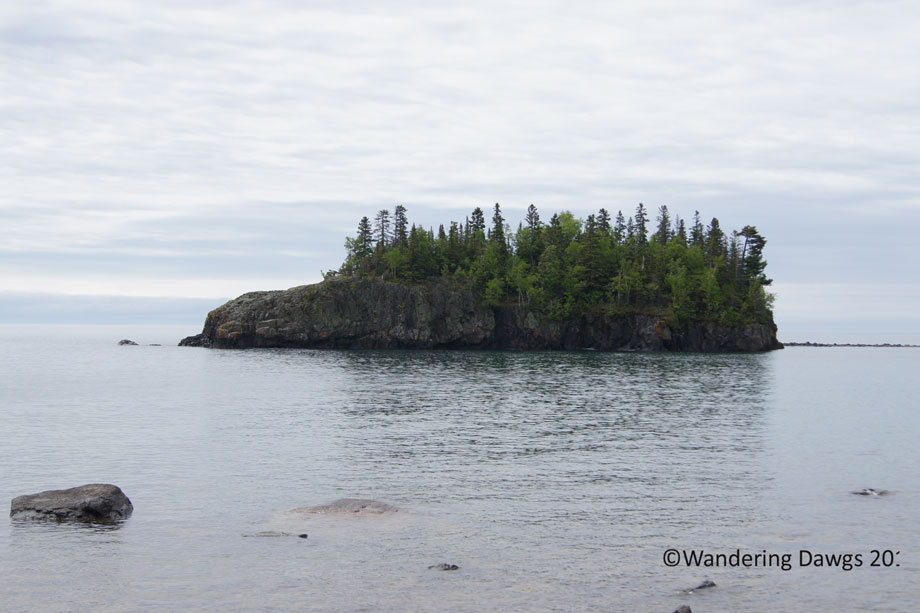 Island in Lake Superior on MInnesota's North Shore