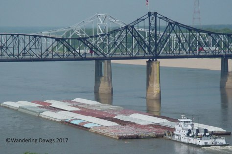 Barge on the Mississippi River in Vicksburg