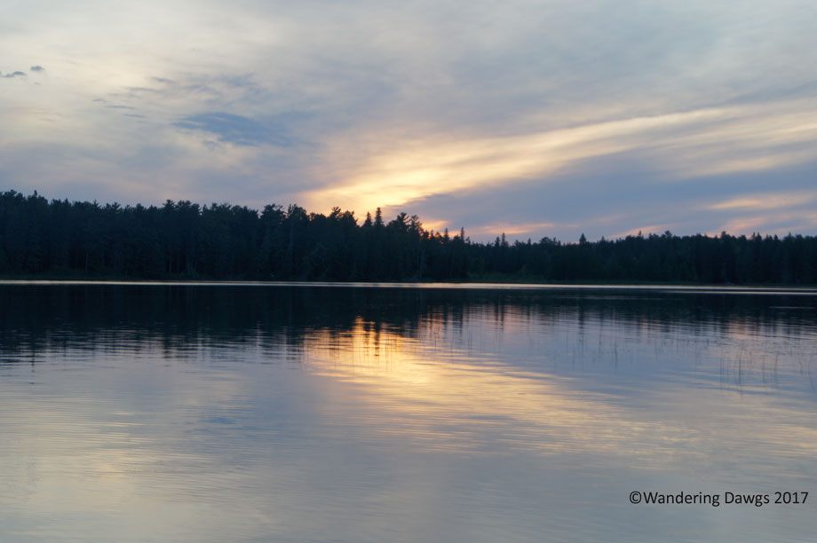 Sunset over Lake Itasca