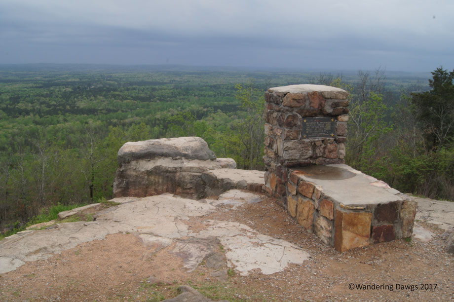 Dowdell's Knob with FDR's barbeque pit