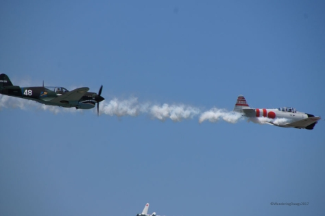 Re-enactment of bombing of Pearl Harbor at Maxwell Air Show